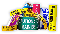 Pipe and duct markers from NADCO Tapes & Labels, Inc.