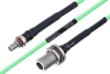 Temperature Conditioned SMA Female Bulkhead to N Female Bulkhead Low Loss Cable 30 Inch Length Using PE-P160LL Coax -- PE3M0195-30 -Image
