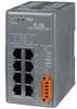 Unmanaged 8-Port 10/100TX Industrial Ethernet Switch with Din Rail Mount