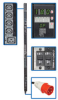 3-Phase Switched PDU, 18kW, 30 240V Outlets (24 C13, 6 C19), IEC309 30A Red (3P+N+E) 415V Input, 0U Vertical Mount -- PDU3XVSR6G30B