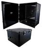 18x16x10 Polycarbonate Weatherproof Outdoor IP66 NEMA 4X Enclosure, DIN Rail Mount Black -- NBBPC181610-000DR