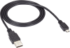 10-ft. Black USB 2.0 Cable, Type A Male to Type Micro-B Male -- USB07-0010 - Image