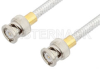 BNC Male to BNC Male Cable 6 Inch Length Using PE-SR401FL Coax, RoHS -- PE34166LF-6 -Image