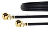 UMCX 2.5 Plug to UMCX 2.5 Plug Cable 1.13mm Coax in 9 Inch and RoHS Compliant -- FMCA1052-9 -Image