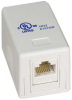 1 Port Cat6 Surface Mount Box White -- 68BX-C1 - Image