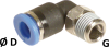 Mini Male Elbow Connector