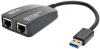 USB 3.0 SuperSpeed to Dual Port Gigabit Ethernet Adapter -- U336-002-GB