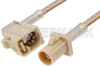 Beige FAKRA Plug to FAKRA Jack Right Angle Cable 48 Inch Length Using RG316 Coax -- PE38757I-48 -Image