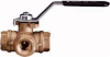 "SERIES 355N(T) THREE WAY BRASS DIRECT MOUNT BALL VALVE, STANDARD PORT 1"" -- 355N-1 - Image"