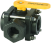 Banjo 3-Way Polypropylene Side Load Ball Valves -- 31268