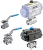2/2 or 3/2 way ball valve with electrical rotary actuator -- 98136090 -- View Larger Image
