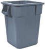 Rubbermaid BRUTE® 40-Gallon Square Container without Lid - 3536 (Gray) -- RM-3536GRA