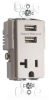 Combination Switch/Receptacle -- TR5361USB-NI -- View Larger Image