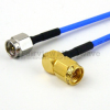 SMA Male to RA SMA Male Cable FM-F086 Coax in 6 Inch and RoHS Compliant -- FMC0204085LF-06 -Image