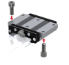 Wide, Low Gravity Center Linear Motion Guide -- HRW-CA Block -Image