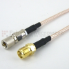 10-32 Male to SMA Female Cable RG316 Coax in 12 Inch -- FMC1013315-12 -Image