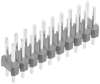 10+10 Pos. Male DIL Vertical Throughboard Conn. -- M20-9981046 - Image