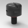 100pcs Milvent Plastic M4x0.7-4 Breather Screw in Protective Air Vent Plug Waterproof and IP68