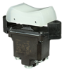 TP Series Rocker Switch, 2 pole, 3 position, Screw terminal, Flush Panel Mounting -- 2TP201-1 -Image