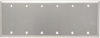 Blank Plate -- Box Mounted, Six Gang, 302 Stainless Steel -- SS63 - Image