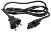 6ft Brazil Power Cord NBR14136 Male Plug to IEC60320-C5 Female -- P-0414-06B - Image