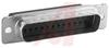 AMPLIMITE D-Sub Plug w/Grounding Indents;25 pos.,Size 3,HDP-20,Tin Plated,Crimp -- 70082674 - Image