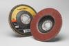 3M Cubitron II 967A Type 27 Coated Ceramic Aluminum Oxide Flap Disc - 60 Grit - 4 1/2 in Diameter - 55606 -- 051141-55606 - Image