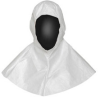 Dupont Safespec IC668B Sterile White Universal Tyvek Cleanroom Hood - Full Face Opening - ISO Class 4 Rating - Ties on Side Fitting - IC668BWH000100CS -- IC668BWH000100CS