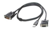 Cables To Go 10-Foot M1 to VGA Male with USB Projector Cable -- 38058 - Image