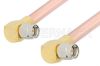 SMA Male Right Angle to SMA Male Right Angle Cable 18 Inch Length Using RG401 Coax -- PE34223-18 -Image