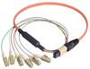 MPO Male to 6x LC Fan-out, 6 Fiber Ribbon, OM1 62.5/125 Multimode, OFNR Jacket, Orange, 10.0m -- MTPM06-LC-10 - Image