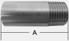 T-304 SCHEDULE 40 STAINLESS STEEL TOE NIPPLE -- T32x2-1/2 304