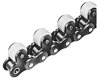 LAMBDA® Series Single Pitch Plastic Top Roller Conveyor Chains