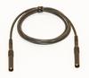 Test Lead Shrouded Banana plugs Both ends Silicone, 24? Black -- BU-6161-M-@