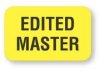 Fluorescent Yellow Edited Master Tape Label Large