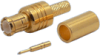 Connector, MCX Male Crimp, Teflon Insulation, Gold Pin, Gold Plated Body, for TCC Cable Group L -- 27-01L-TGG - Image