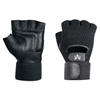 Mesh Material Handling Fingerless Gloves w/ Wrist Strap - Medium -- GLV1015M