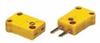 Digi-Sense Type K Thermocouple Miniconnector; plug connection, yellow, 100/pack -- GO-93841-52