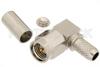SMA Male Right Angle Connector Crimp/Solder Attachment for RG58, RG303, RG141, PE-C195, PE-P195, LMR-195, .195 inch -- PE4405 -Image