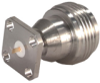 Coaxial Straight Panel Receptacle Jack, Flange Mount -- Type 23_N-50-0-16/133_NE - 22641166