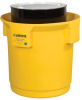 Justrite Yellow 55 gal Spill Containment Drum - 31.75 in Height - 697841-13462 -- 697841-13462