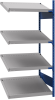 Open shelving with 4 sloped shelves (FIFO) (End side-by-side unit) -- SRC1F-EH750401 - Image