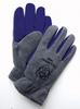 Premium Polar Fleece/Cowhide Winter Gloves > SIZE - L > COLOR - Gray > UOM - Pair -- 1584-L