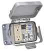 Size 48B Panel Interface Connector: (1) outlet, (2) DB9, (2) USB -- ZP-PGA-48-500