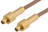 MMCX Plug to MMCX Plug Cable 4 Inch Length Using RG178 Coax -- PE34599-4 -Image