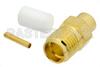 SMA Female Connector Solder Attachment for PE-SR402AL, PE-SR402FL, PE-SR402FLJ, PE-SR402TN, RG402 -- PE44695 -Image