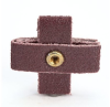 3M 341D A/O Aluminum Oxide AO Cross Pad P120 Grit - 1 in Width x 1 in Length - 3/8 in Pad Thickness - 27370 -- 051141-27370 - Image