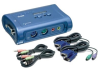 TRENDnet - TK-208K - 2-Port PS/2 KVM Switch with Audio Ports -- TK-208K