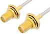 SMA Female Bulkhead to SMA Female Bulkhead Cable 12 Inch Length Using PE-SR405AL Coax -- PE34071-12 -Image