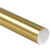 "3"" x 24"" Gold - Mailing Tubes with Caps -- P3024GO"